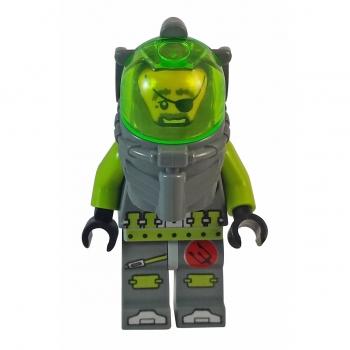 Lego Atlantis Figur Ace Speedman mit Propeller